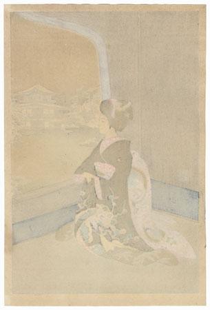 Maiko in Winter by Sadanobu III (1881 - 1963)