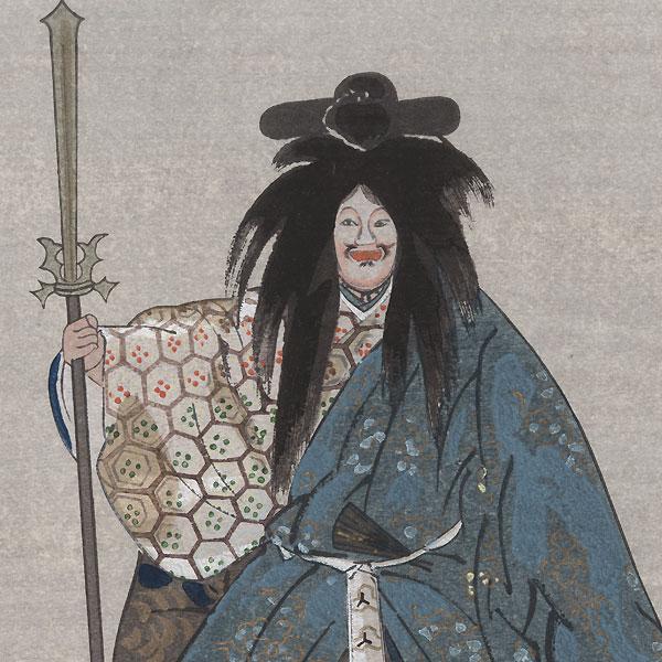 Noh Theater Scene by Tsukioka Kogyo (1869 - 1927)