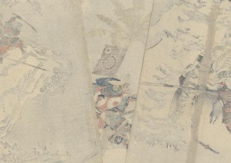 Watonai Hunting a Tiger, circa 1846 by Kuniyoshi (1797 - 1861)
