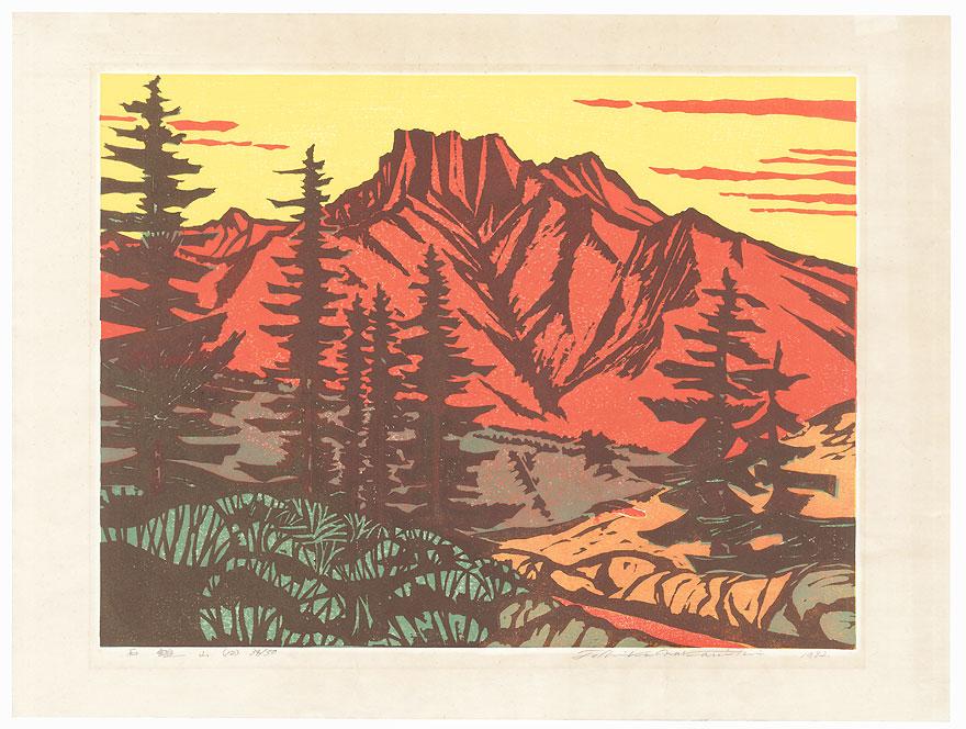 Mountain at Sunset (12), 1982 by Toshika Nakanishi (born 1934)