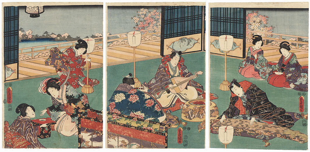 An Evening Concert, 1852 by Toyokuni III/Kunisada (1786 - 1864)