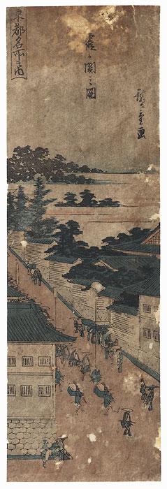 View of Kasumigaseki, circa 1840 by Hiroshige (1797 - 1858)