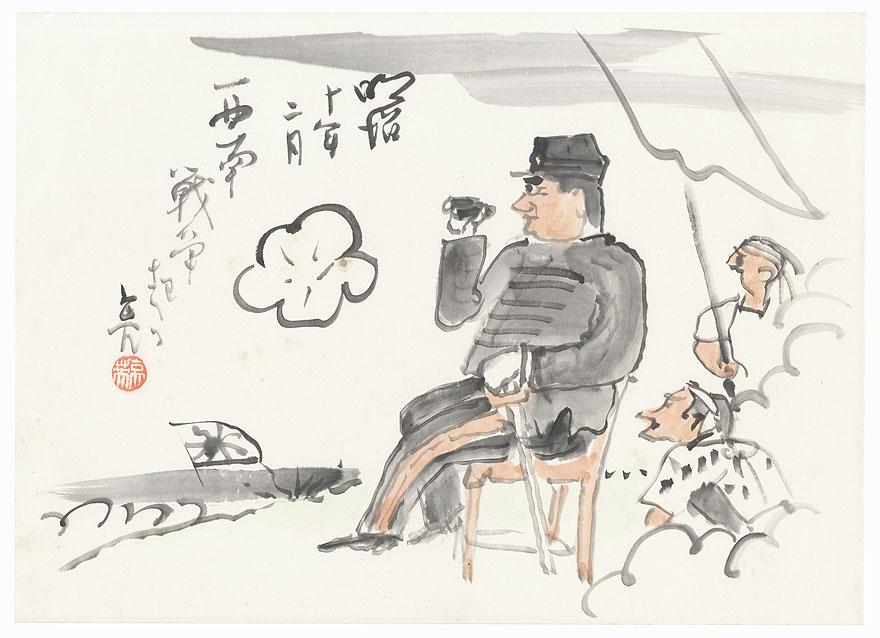 The Satsuma Rebellion (1877) by Hattori Ryoei (1887 - 1955)