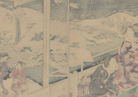 Fuji Arts Overstock Diptych - Exceptional Bargain! by Fusatane (active 1854 - 1888)