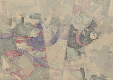 Attempting an Arrest, 1877 by Chikanobu (1838 - 1912)