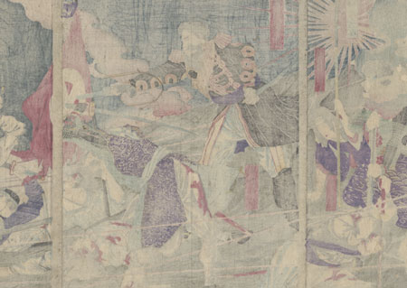 Saigo at the Battle of Shiroyama, 1877 by Chikanobu (1838 - 1912)