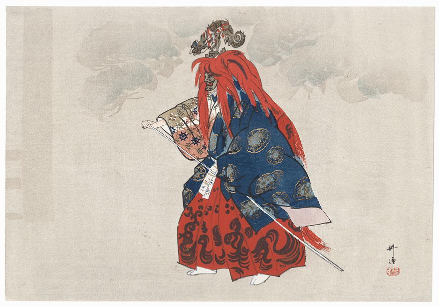 Iwafune (The Boat of Heaven) by Tsukioka Kogyo (1869 - 1927)