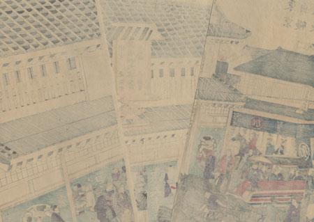 Tokyo Street Scene by Hiroshige III (1843 - 1894)
