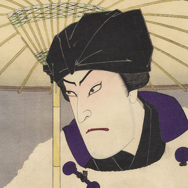 Onoe Kikugoro V as Nezumi Kozo and Bando Mitsugoro as Matsuyama by Kunichika (1835 - 1900)