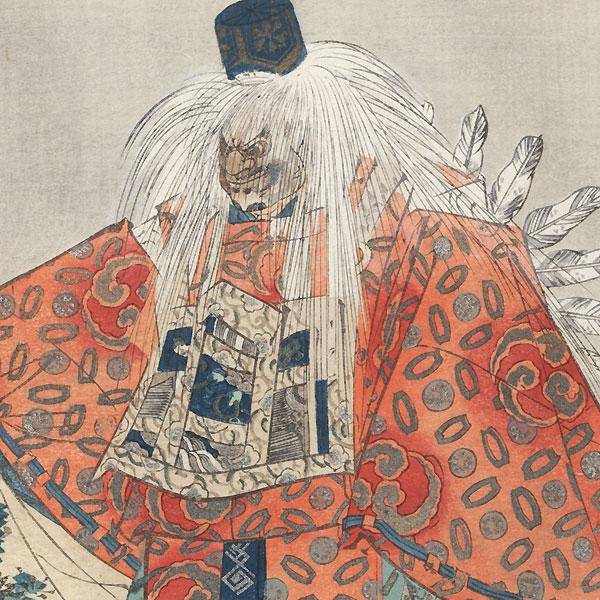 Kurama-tengu (The Long-nosed Goblin in Kurama) by Tsukioka Kogyo (1869 - 1927)