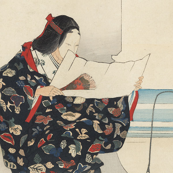 Hanagatami (Basket of Flowers) by Tsukioka Kogyo (1869 - 1927)