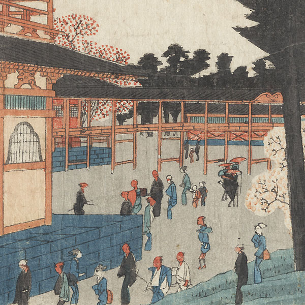 Cherry Blossoms in Full Bloom at Ueno, circa 1840 - 1842 by Hiroshige (1797 - 1858)