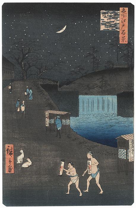 Aoi Slope, Outside Toranomon Gate, 1857 by Hiroshige (1797 - 1858)