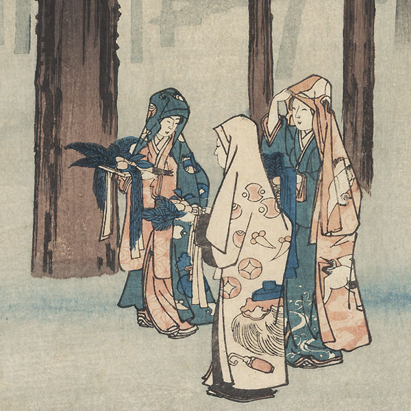 Izumo Province, Taisha, Depiction of Hotohoto, 1853 by Hiroshige (1797 - 1858)
