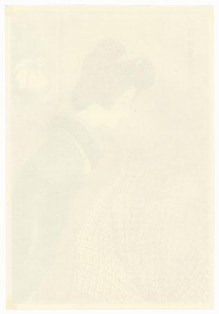 Snowy Night (Woman Warming Herself on a Footwarmer) by Ito Shinsui (1898 - 1972)