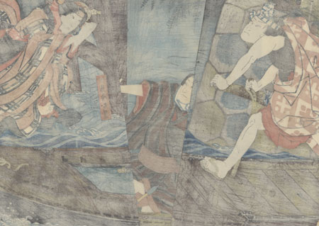 Beauty Leaping to Her Death, 1852 by Toyokuni III/Kunisada (1786 - 1864)