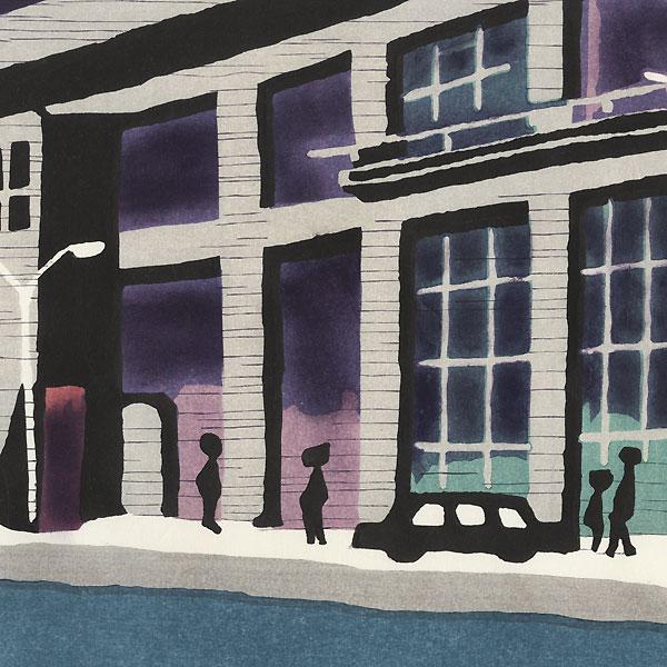 Street Scene by Taizo Minagawa (1917 - 2005)