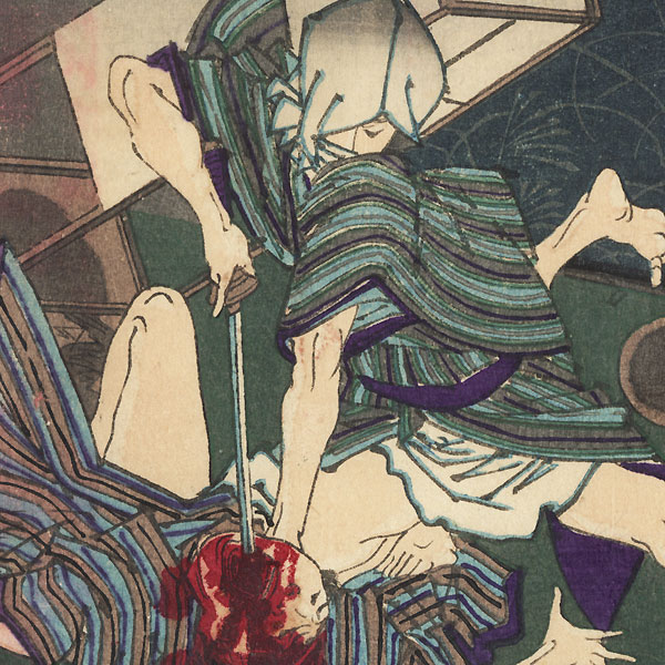 Night Attack by Yoshiiku (1833 - 1904)