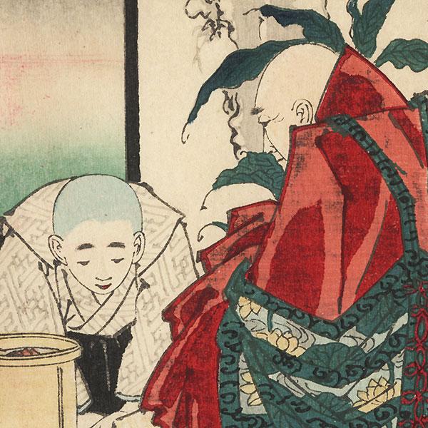 Priest and Acolyte by Yoshiiku (1833 - 1904)