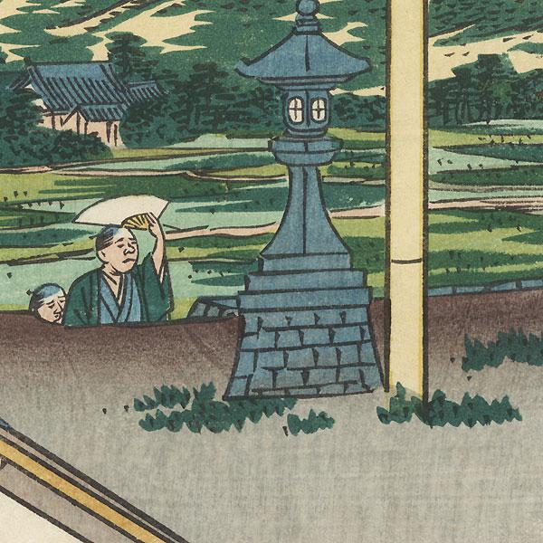 Entsuji Temple by Umekawa Tokyo (active circa mid-1850s - early 1860s)