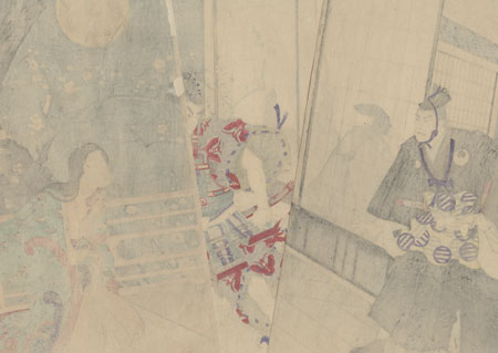 Confrontation at Oiso from the Soga Brothers, 1890 by Chikanobu (1838 - 1912)