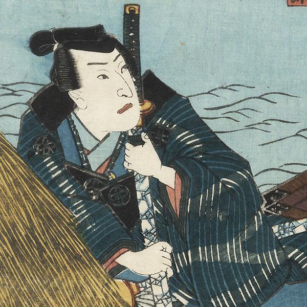 Boating on a Moonlit Night, 1850 by Toyokuni III/Kunisada (1786 - 1864)
