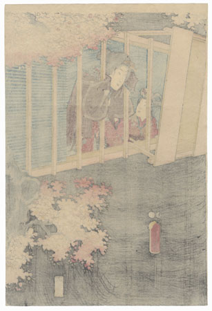 Beauty Looking out a Window, 1847 - 1852 by Toyokuni III/Kunisada (1786 - 1864)