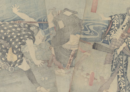 Packhorse Driver Attacking a Traveler, 1854 by Toyokuni III/Kunisada (1786 - 1864)