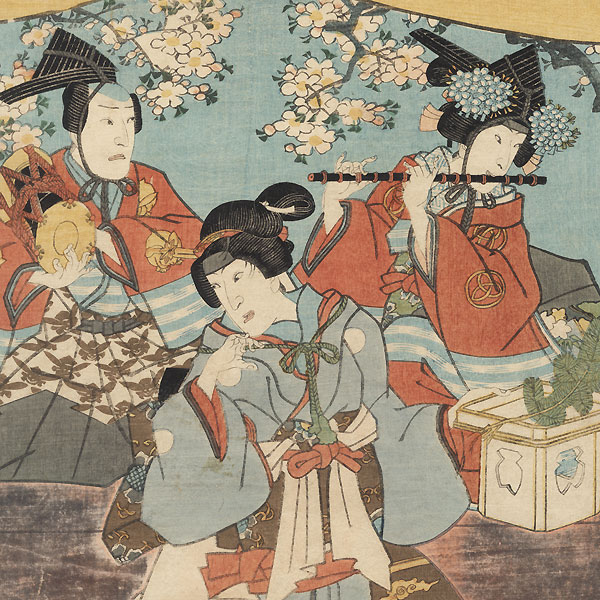 The Doll Festival, Finale of The Fifty-three Stations, 1860 by Toyokuni III/Kunisada (1786 - 1864)