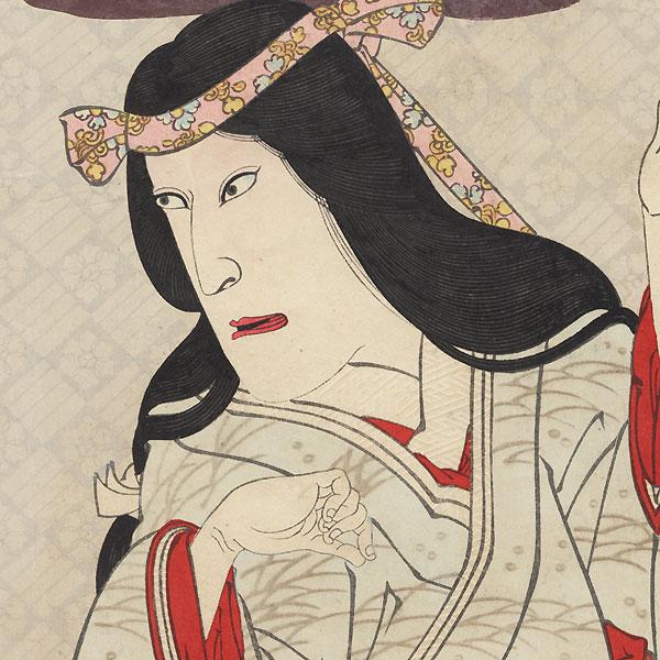Ichikawa Danjuro IX as Yamauba by Kunichika (1835 - 1900)