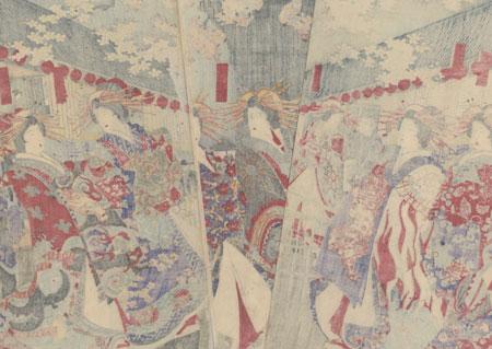 The Pleasure District, 1886 by Chikanobu (1838 - 1912)