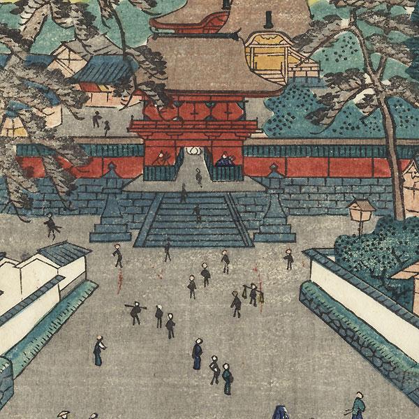 Fushimi Inari Shrine at Mitsugamine by Umekawa Tokyo (active circa mid-1850s - early 1860s)