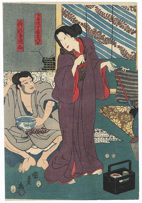 Koheiji's Wife Otsuka, 1853 by Kunisada II (1823 - 1880)