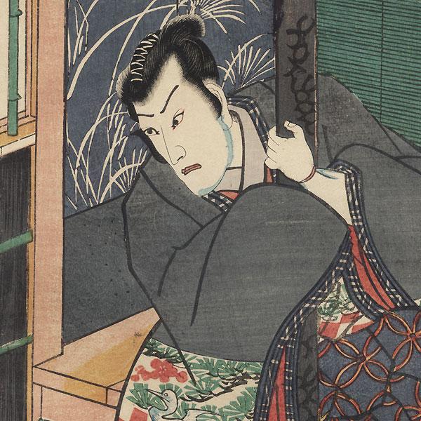 Melancholy Samurai by Toyokuni III/Kunisada (1786 - 1864)