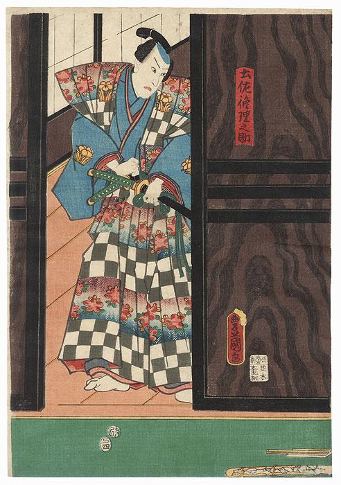 Tosa Shurinosuke, 1857 by Toyokuni III/Kunisada (1786 - 1864)