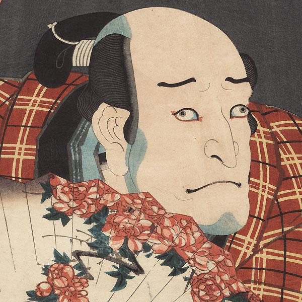 Asao Okuyama III as Nurude Gobaiji, 1852 by Kunisada II (1823 - 1880)