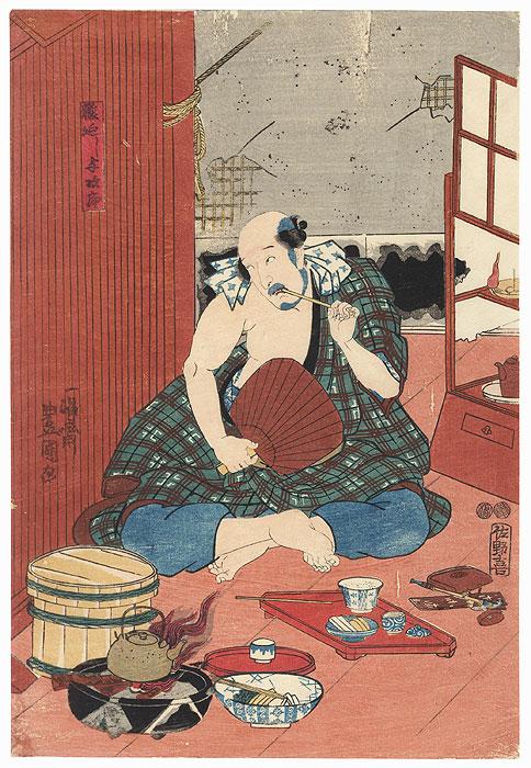 The Monkey Trainer Yojiro, 1847 - 1852 by Toyokuni III/Kunisada (1786 - 1864)