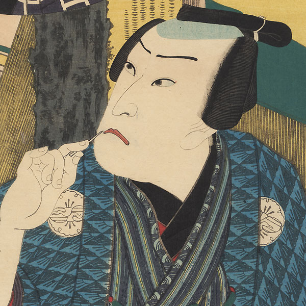 Kataoka Nizaemon VIII as Tamaya Shinbei, 1861 by Toyokuni III/Kunisada (1786 - 1864)