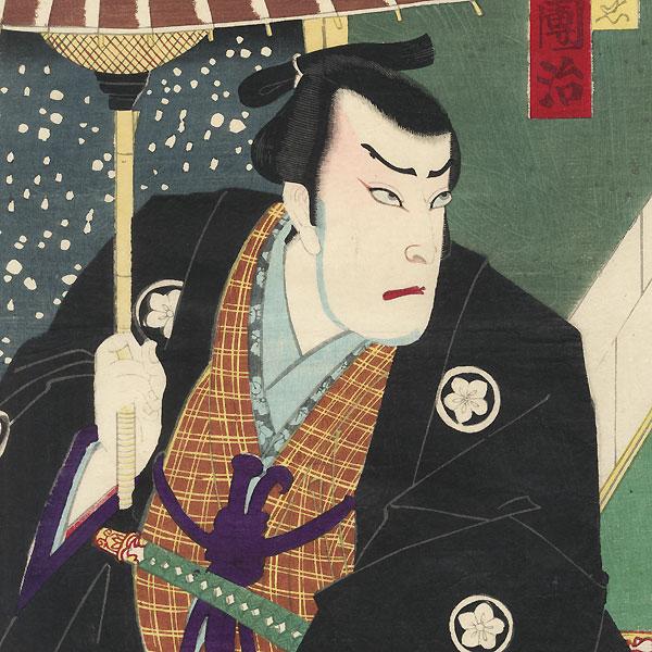 Kabuki Confrontation, 1877 by Chikashige (active circa 1869 - 1882)