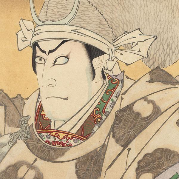 Ichikawa Kuzo as the Ghost of Taira no Tomomori, 1891 by Kunichika (1835 - 1900)