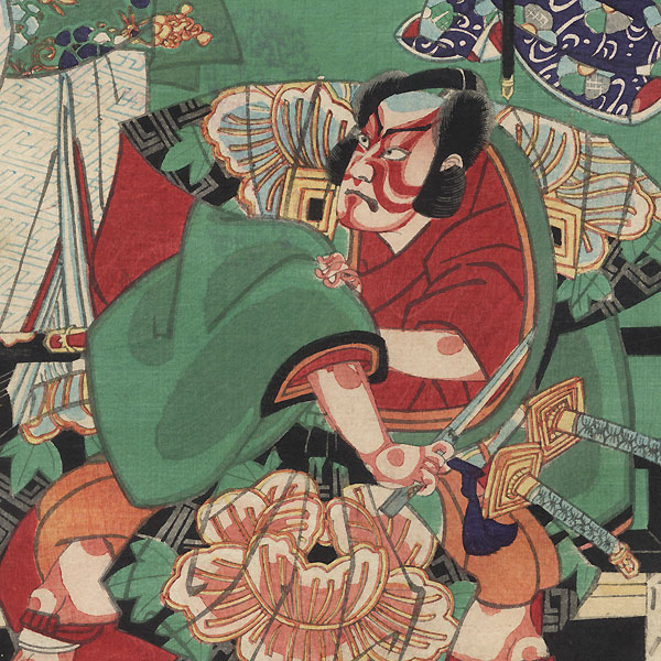 The Heir at the Bush Clover Palace by Kunichika (1835 - 1900)
