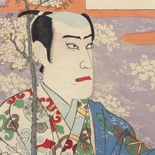 Ichikawa Danjuro IX as Koshi Shiro by Kunichika (1835 - 1900)