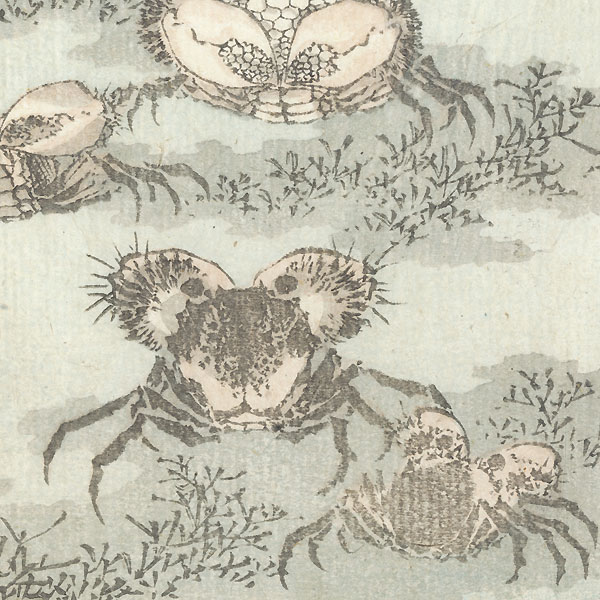 Crabs by Hokusai (1760 - 1849)
