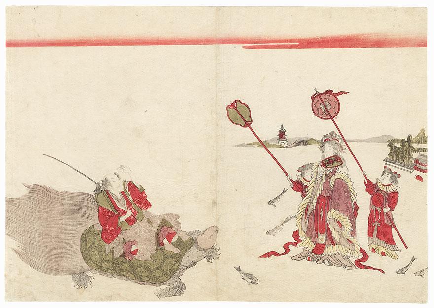 Urashima Taro and the Dragon Princess by Shunsen (1762 - circa 1830)