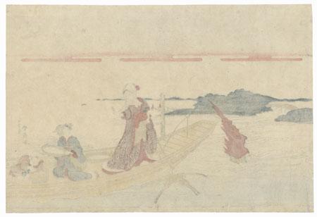 Beauties Fishing by Shunsen (1762 - circa 1830)
