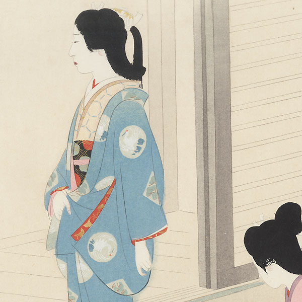 Noblewoman Waiting, 1921 by Shin-hanga & Modern artist (not read)