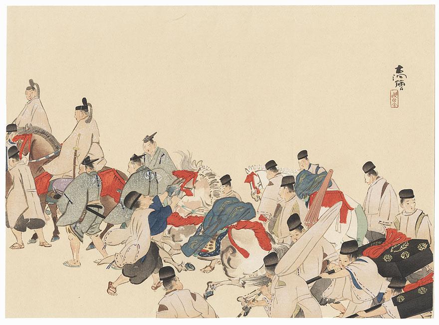 Daimyo's Procession, 1921 by Shin-hanga & Modern artist (not read)