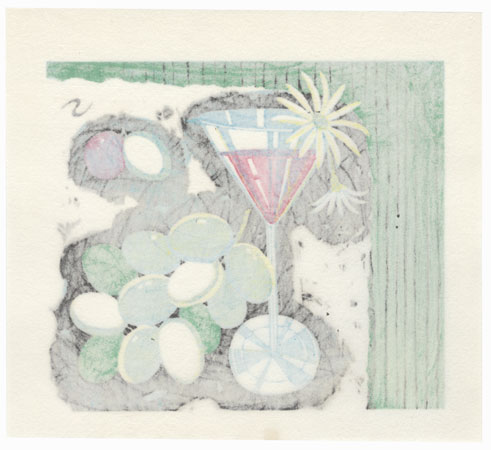 Cocktail and Grapes, 1982 by Shuzo Ikeda (born 1922)