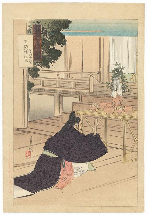 Shinto Altar at Hachiman Shrine, 1892 by Gekko (1859 - 1920)