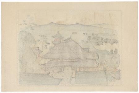 Kiyomizudera, Temple 16 by Hiromitsu Nakazawa (1874 - 1964)